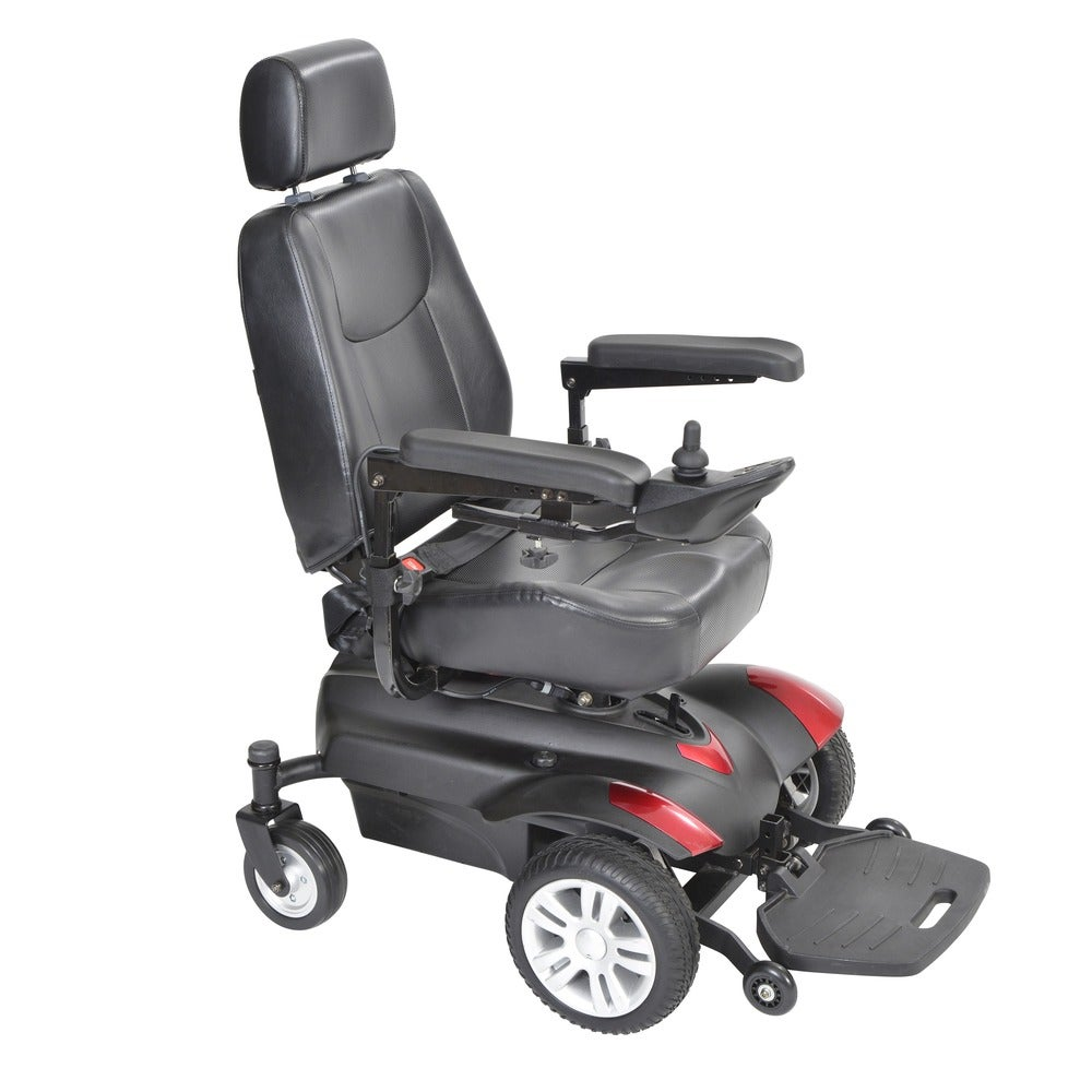 "Drive Medical Titan X23 Front Wheel Power Wheelchair (Full Back Captain's Seat, 18"" x 18"")"