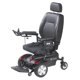 Drive Medical Titan Front Wheel Pan Seat Power Wheelchair - Black