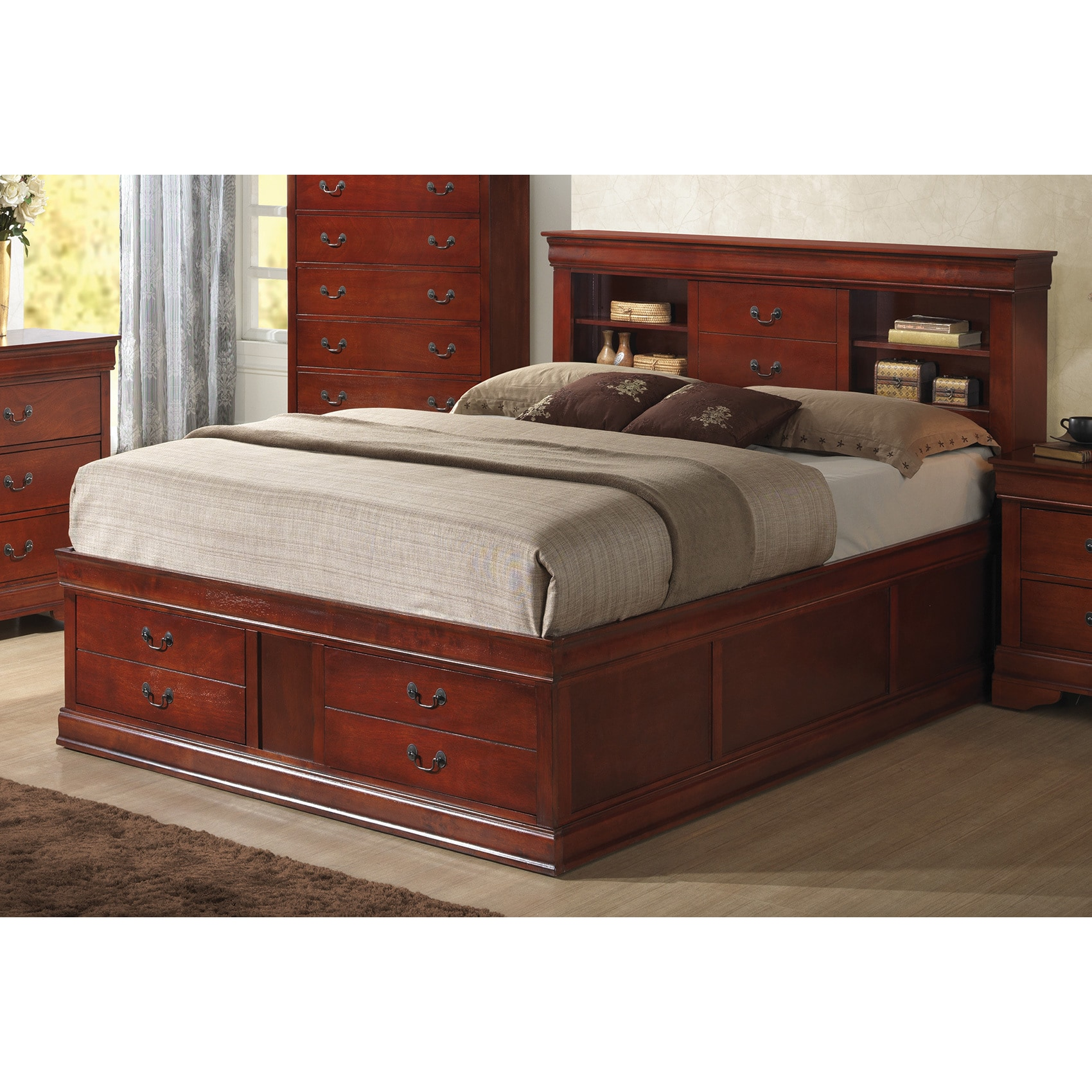 Coaster Furniture Louis Philippe Cherry Storage Bed (Quee...
