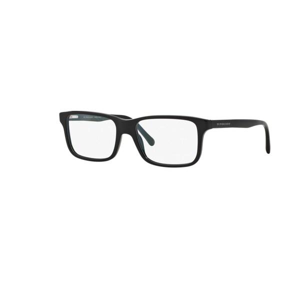 f4992c3c9b4 Burberry BE2165 3001 Black Plastic Rectangle Eyeglasses with 55mm Lens