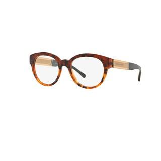 Burberry BE2209 3559 Top Dk Havana/Light Havana Plastic Cat Eye Eyeglasses with 51mm Lens