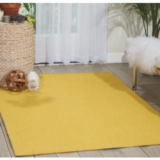 Nourison Nolan Sun Yellow Area Rug (5'3 x 7'5)