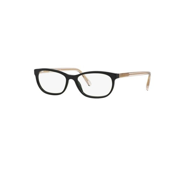 e88dff7094ed Shop Burberry BE2180 3507 Black Plastic Cat Eye Eyeglasses with 52mm ...