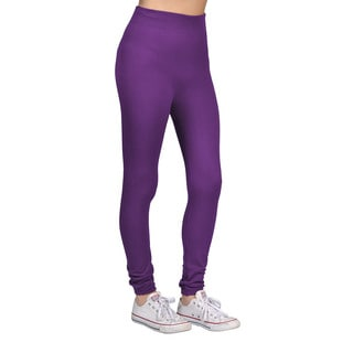 Women's Purple Spandex/Nylon Fashion Leggings