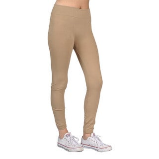 Women's Khaki Spandex/Nylon Ffashion Leggings