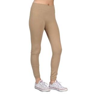 Women's Khaki Spandex/Nylon Ffashion Leggings