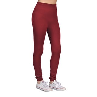 Women's Burgundy Leggings