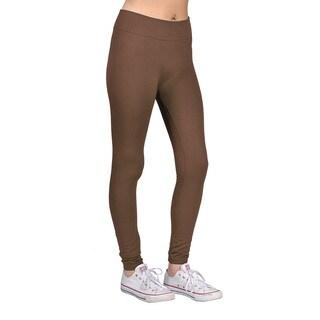 Womens Brown Nylon/Spandex Fashion Leggings