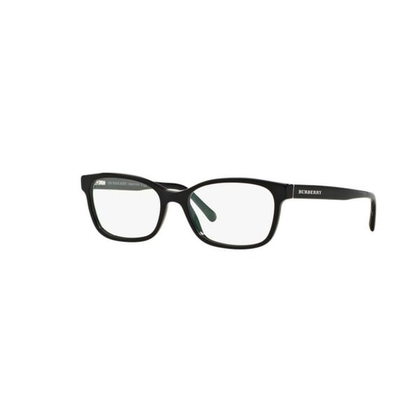 3630d486359 Burberry Womens BE2201 3001 Black Plastic Rectangle Plastic Eyeglasses with  52mm Lens