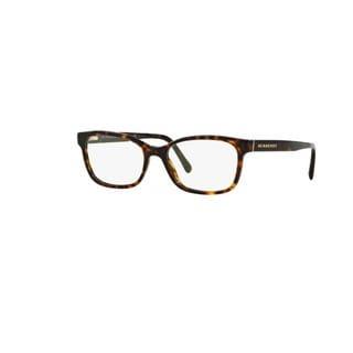 Burberry BE2201 3002 Dark Havana Plastic Rectangle Eyeglasses with 54mm Lens