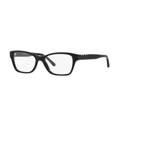 Burberry BE2144 3001 Black Plastic Cat Eye Eyeglasses w/ 53mm Lens