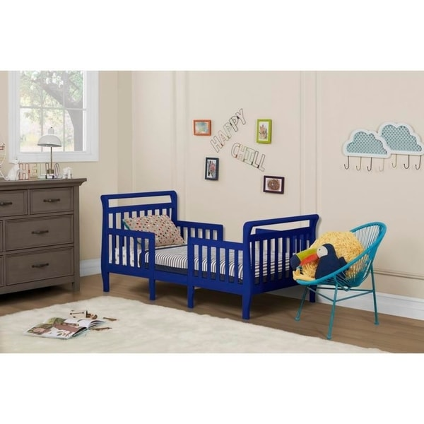 shop dream on me emma blue 3 in 1 convertible toddler bed free shipping today. Black Bedroom Furniture Sets. Home Design Ideas