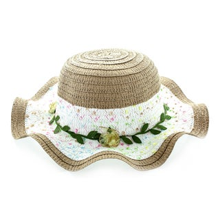 Faddism Kids' Sun Hat With Flower Hatband