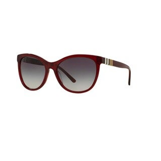 Burberry Women's BE4199 35438G Bordeaux Plastic Square Sunglasses with 58mm Lens