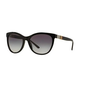 Burberry Women's BE4199 30018G Black Plastic Square Sunglasses w/ 58mm Lens