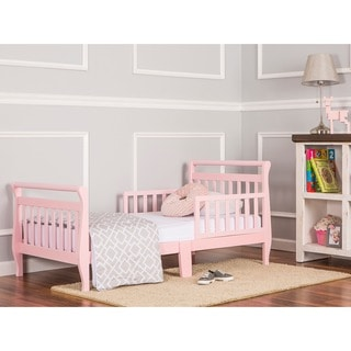 Dream On Me Pink Toddler Sleigh Bed