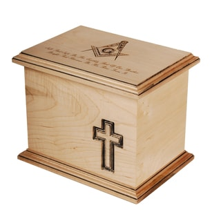 Star Legacy Funeral Network Masonic Natural Maple Cremation Urn