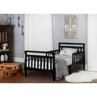 Dream On Me Black Toddler Sleigh Bed