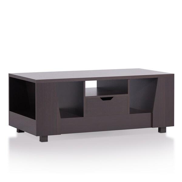 Furniture of america ciollo modern espresso open storage for When did table 52 open
