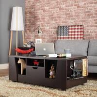 Furniture of America Moon Modern Brown Open Storage Coffee Table