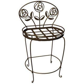 Plastec PS1018BK Rose Garden Plant Chair
