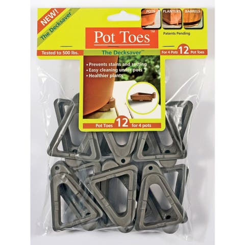 IGC Cartanna PT-12CHHT 12 Pack Dark Gray Pot Toes