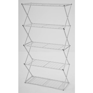 Flowerhouse EXY50W 62.5-Inches H X 34-Inches W X 14-Inches D White 5-Tier Exy Shelving