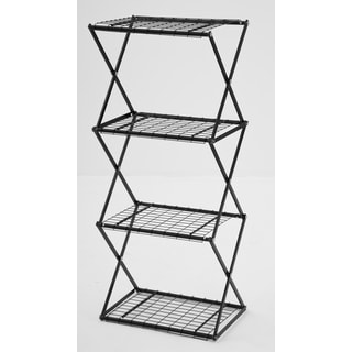 Flowerhouse EXY41B 47-Inches H X 20-Inches W X 14-Inches D Black 4-Tier Slim Exy Shelving