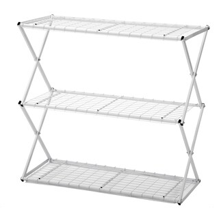 Flowerhouse EXY30W 33.5-Inches H X 32-Inches W X 14-Inches D White 3-Tier Exy Shelving