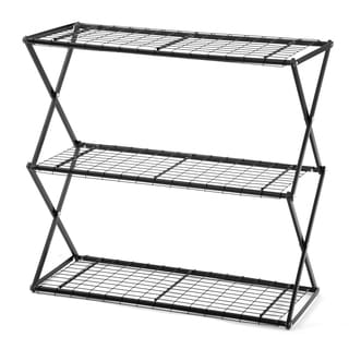Flowerhouse EXY30B 33.5-Inches H X 32-Inches W X 14-Inches D Black 3-Tier Exy Shelving