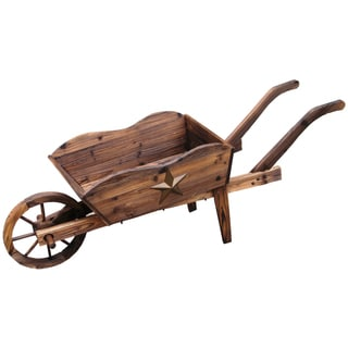 Lehigh-country TX93959 24-Foot L X 9-Inches W X 16-Inches H Wooden Wheel Barrow Planter