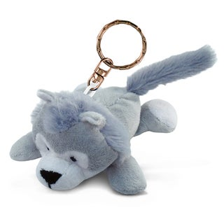 Puzzled Wolf Plush Key Chain