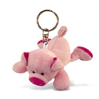 Puzzled Pig Plush Keychain