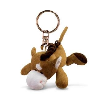Puzzled Horse Plush Keychain
