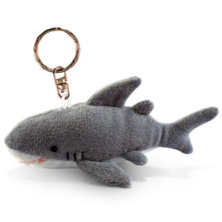 Puzzled Shark Plush Key Chain