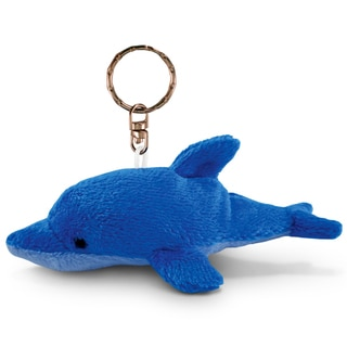 Puzzled Plush Dolphin Keychain