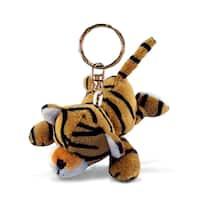 Puzzled Plush Tiger Keychain