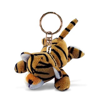 Puzzled Plush Tiger Keychain