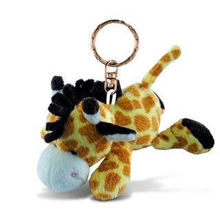 Puzzled Plush Fabric Giraffe Keychain