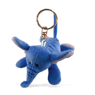 Puzzled Elephant Plush Keychain