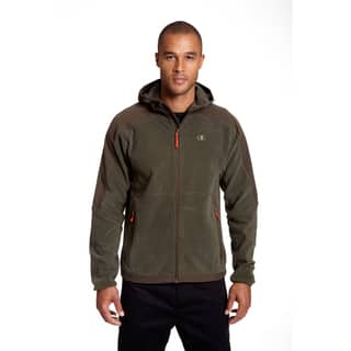 Champion Men's Big and Tall 4-way Stretch Overlay Hooded Textured Fleece Jacket|https://ak1.ostkcdn.com/images/products/12383340/P19206038.jpg?impolicy=medium