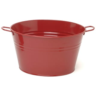 Hit Corp 6085E 13.5-Inches x 8-Inches Galvanized Enamel Tub