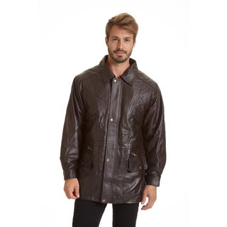 Excelled Men's Big and Tall Lambskin Parka