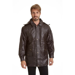 Excelled Men's Lambskin Parka