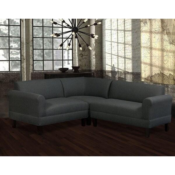 Shop Carolina Accents Briley Grey 3-piece Sectional - Free ... on Riley 3 Piece Sectional Charleston id=45091
