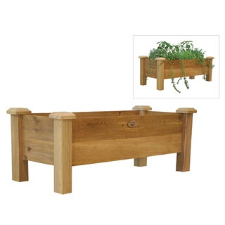 Gronomics RPB 18-48 18-Inches X 48-Inches X 19-Inches Rustic Planter Box