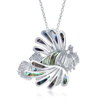 La Preciosa Sterling Silver Abalone Lionfish Pendant
