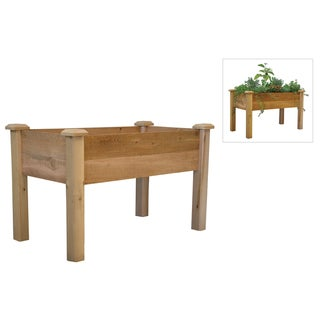 Gronomics REGB 24-48 24-Inches X 48-Inches X 30-Inches Rustic Elevated Garden Bed