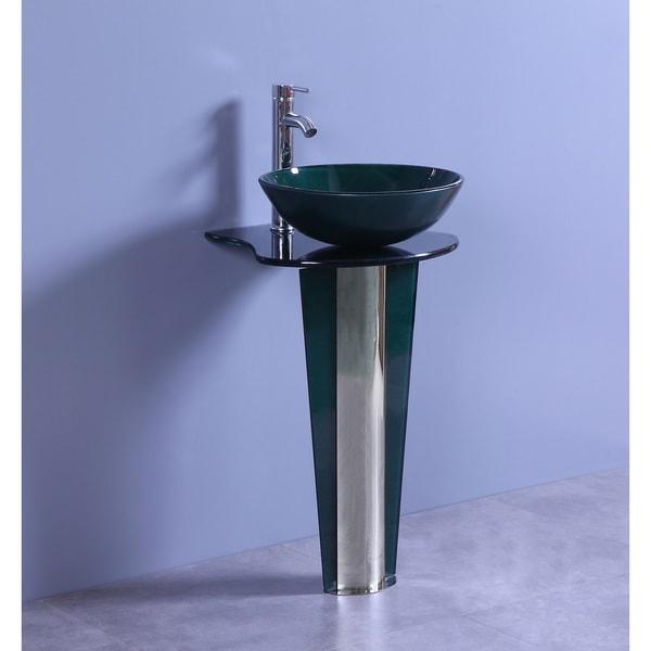 Vessel Sink Pedestal Bathroom Vanity Picture With Bathroom Faucets ...