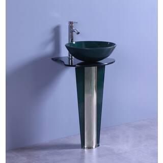 Legion Furniture 19.6-Inch Dark Green Glass Single Bathroom Vanity|https://ak1.ostkcdn.com/images/products/12383364/P19206058.jpg?impolicy=medium